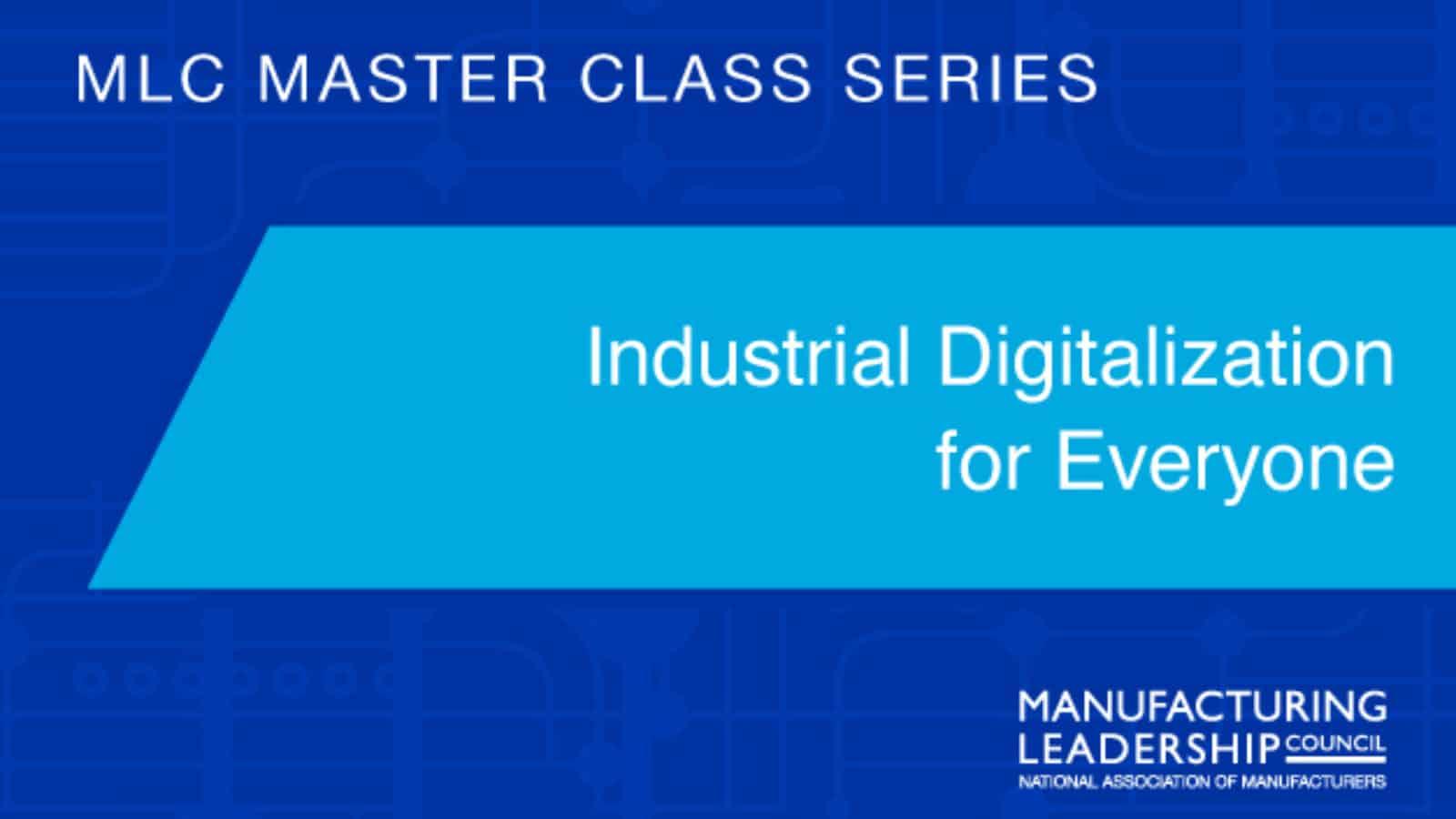 Industrial Digitalization for Everyone