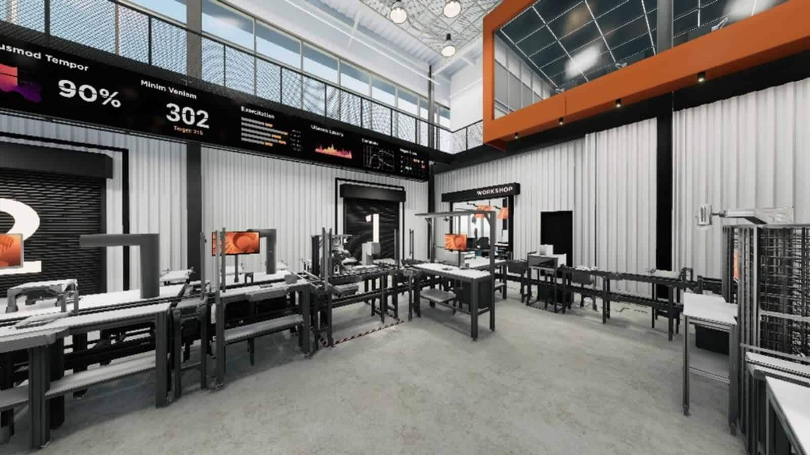 Rendering of the Smart Factory @ Wichita production line.